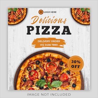 Pizza eten menu promotie sociale media instagram sjabloon voor postbanner