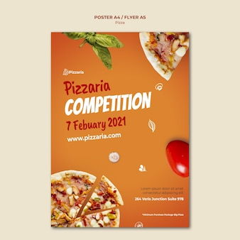 Pizza flyer sjabloon stijl