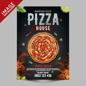 Pizza house premium psd-sjabloon