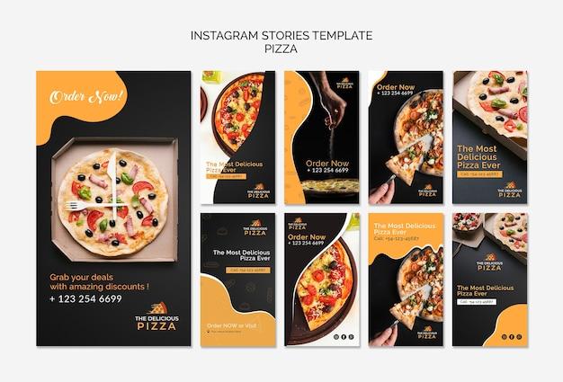 Pizza de plantilla de historias de instagram