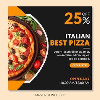 Pizza post sui social media