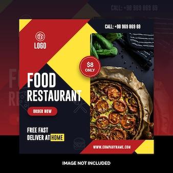 Pizza en las redes sociales post banner