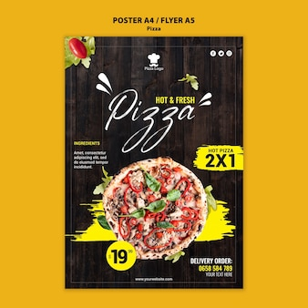 Pizza restaurant flyer sjabloon