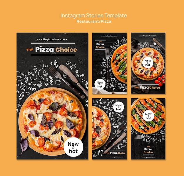 Pizza restaurant instagram verhalen sjabloon