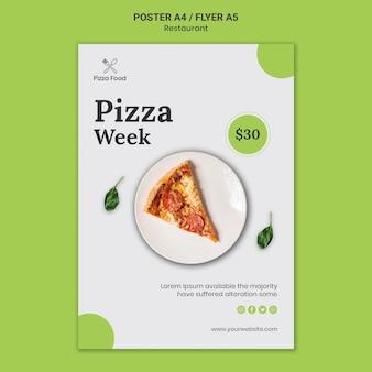Pizza restaurant poster sjabloon