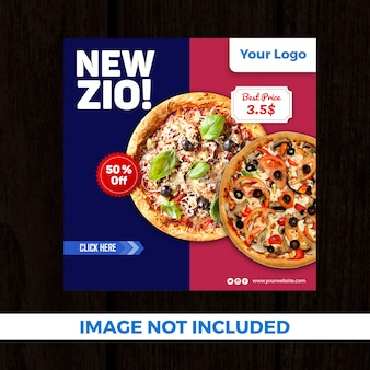 Pizza speciale aanbieding social media-banner
