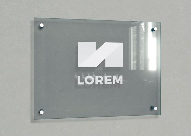 Placa de identificación de edificios de oficinas