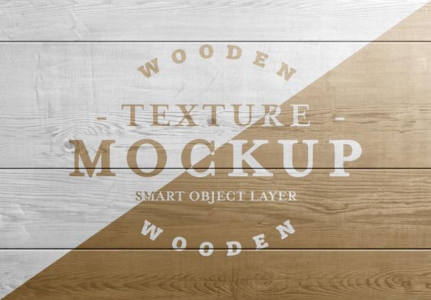 Plance di legno trama mockup