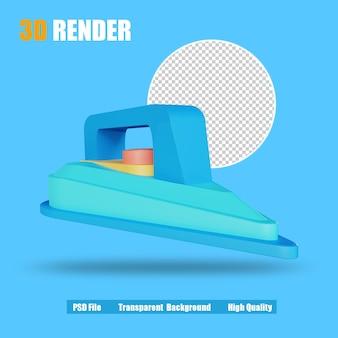 Plancha eléctrica del icono de render 3d