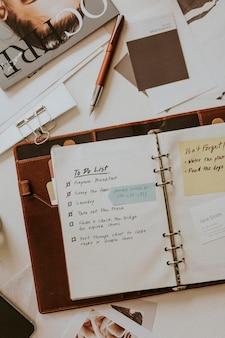 Planificador de maquetas de cuaderno de lista de tareas
