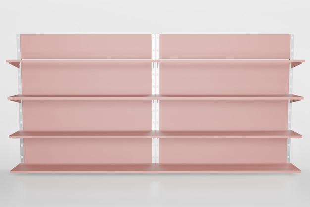 Plankmodel voor productplaatsing in 3d-rendering illustratie