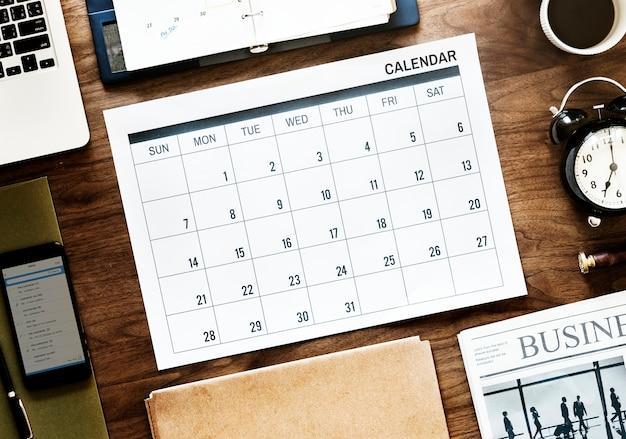 Plano de la agenda de negocios
