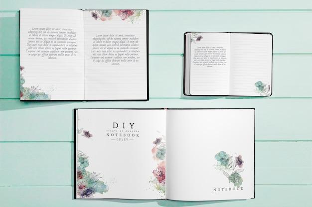 Plano de maqueta de concepto de folleto