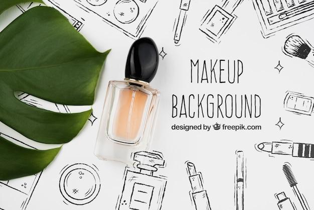 Plano de maqueta de frasco de perfume