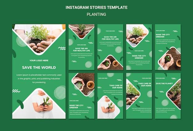 Plant bomen voor betere lucht instagram-verhalen