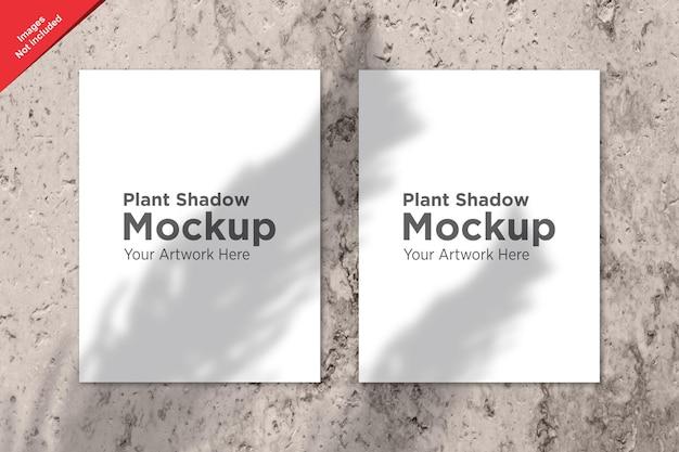 Plant schaduw over sheet mockup design