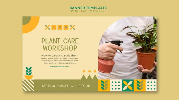 Plant verzorging workshop banner