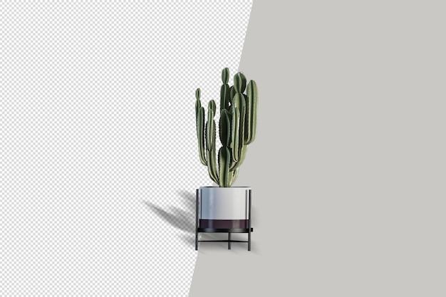 Planta en representación 3d aislada