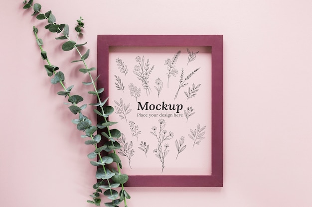 Plantensamenstelling mock-up met frame