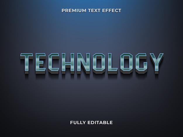 Plantilla 3d de efecto de texto de tecnología