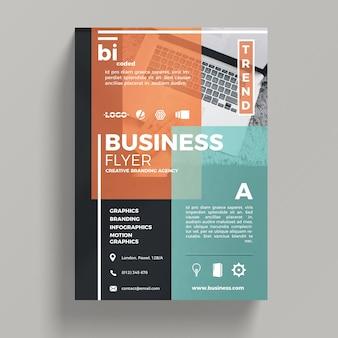 Plantilla abstracta corporativa de flyer de negocios