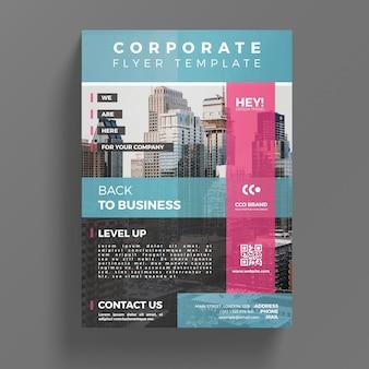 Plantilla abstracta de flyer corporativo