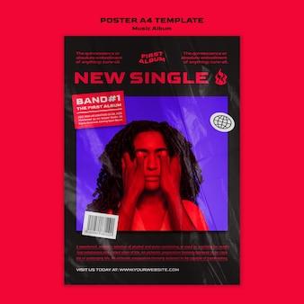 Plantilla de álbum de música nuevo single