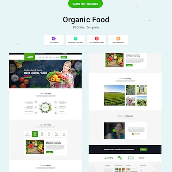 Plantilla de alimentos orgánicos