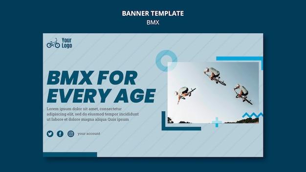 Plantilla de anuncio de banner bmx shop