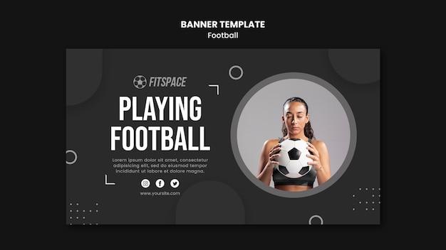 Plantilla de anuncio de banner de fútbol