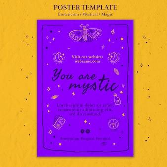 Plantilla de anuncio de cartel de esoterismo