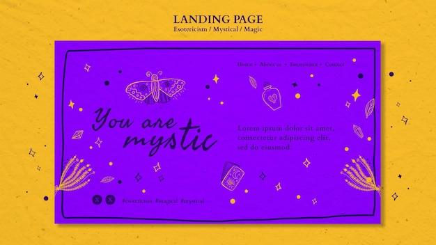 Plantilla de anuncio de esoterismo de página de destino