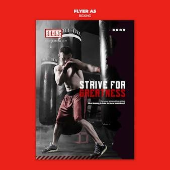 Plantilla de anuncio de póster de boxeo