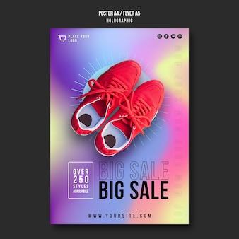 Plantilla de anuncio de venta de zapatillas de póster