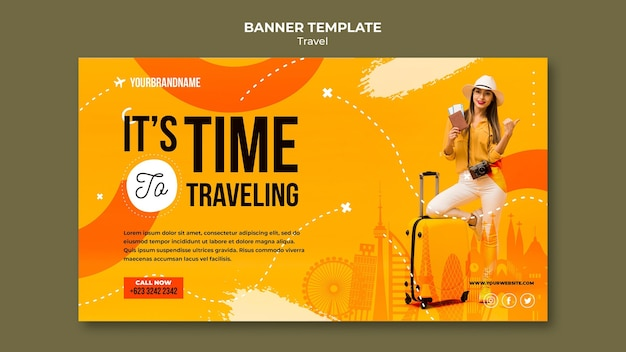 Plantilla de banner de agencia de viajes