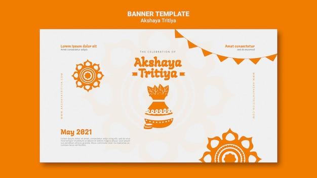 Plantilla de banner de akshaya tritiya
