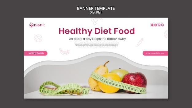 Plantilla de banner de anuncio de plan de dieta