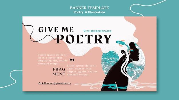 Plantilla de banner de anuncio de poesía