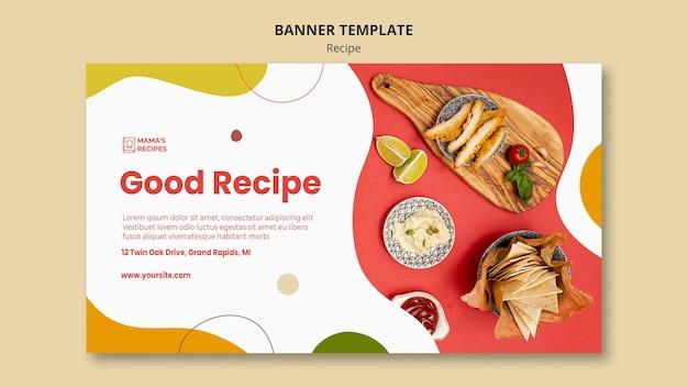 Plantilla de banner de anuncio de recetas