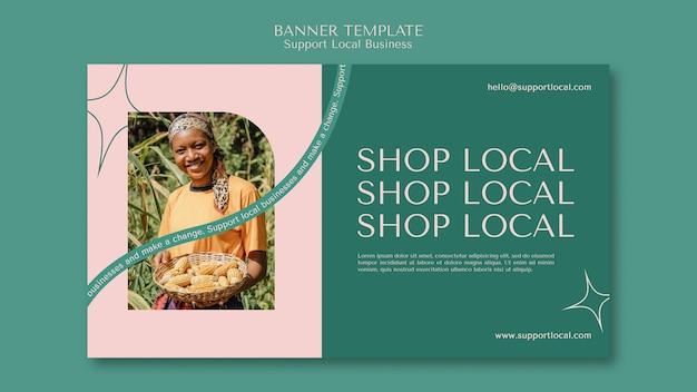 Plantilla de banner de apoyo a empresas locales