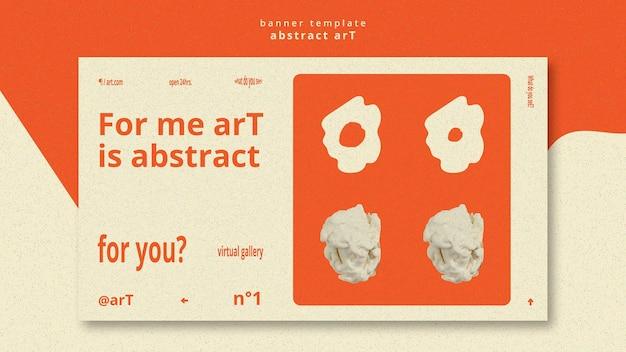 Plantilla de banner de arte abstracto