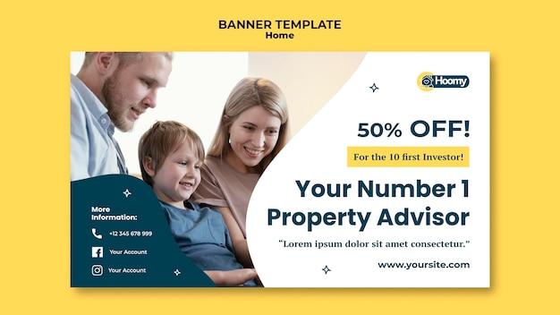 Plantilla de banner de asesor inmobiliario