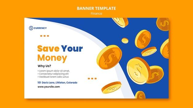 Plantilla de banner de banca en línea