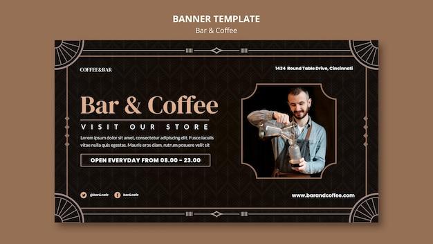 Plantilla de banner de bar y café