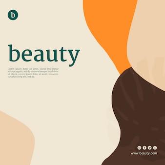 Plantilla de banner de belleza con formas abstractas