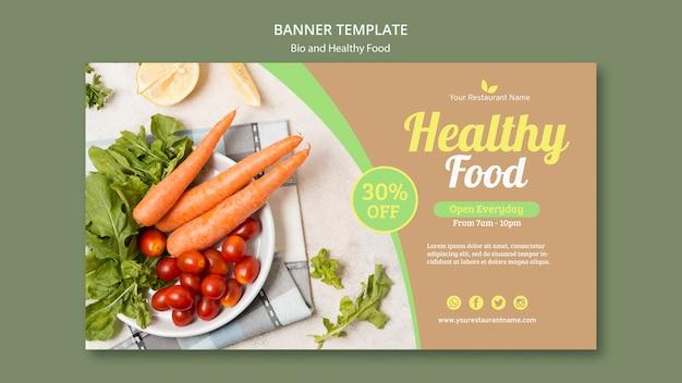 Plantilla de banner bio y saludable