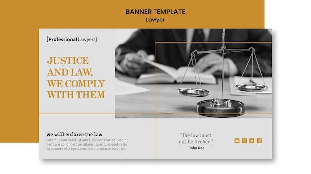 Plantilla de banner de bufete de abogados