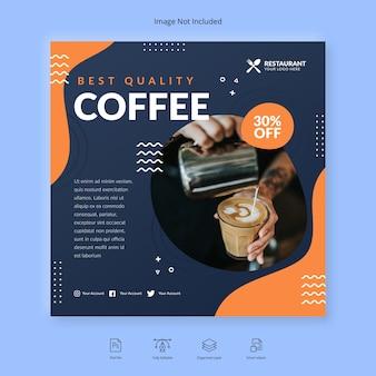 Plantilla de banner de café