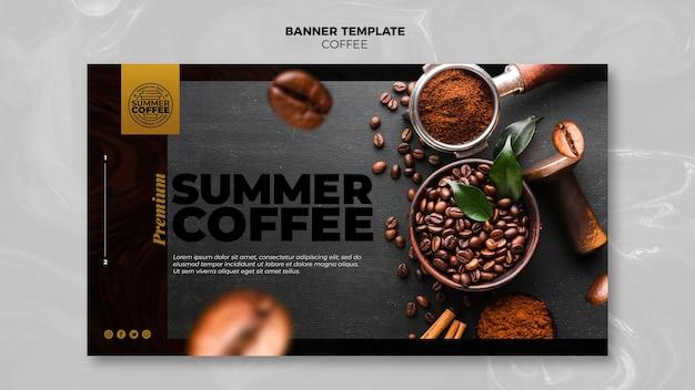 Plantilla de banner de cafetería