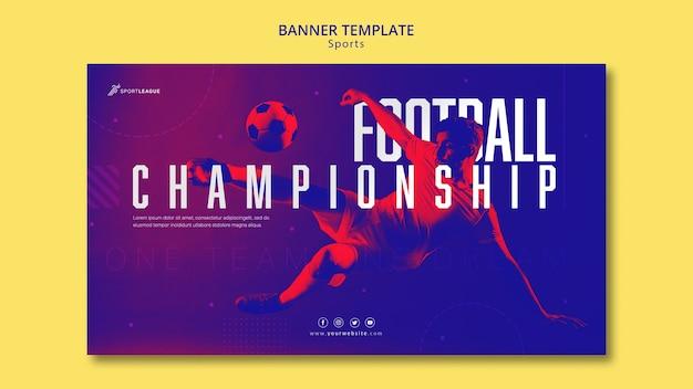 Plantilla de banner de campeonato de fútbol